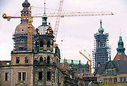 Rebuilding in Dresden, Germany.