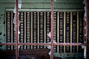 Time card file in the abandoned Fort Pitt Steel Casting plant in McKeesport, Pa. By early 1984, operations at McKeesport Steel Castings had all but ceased.<br />
