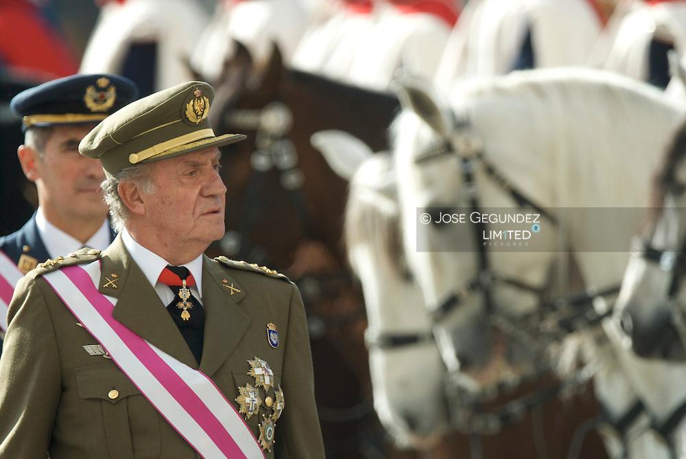 Madrid. (06/01/2008). Palacio Real. Pascua Militar presidida por S.M. el Rey D. Juan Carlos I, S.M. Dña. Sofia, y los Principes de Asturias, S.A.R. D. Felipe de Borbon y Dña. Letizia Ortiz.