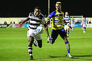Forest Green Rovers Dale Bennett(6) runs forward during the Vanarama National League match between Solihull Moors and Forest Green Rovers at the Automated Technology Group Stadium, Solihull, United Kingdom on 25 October 2016. Photo by Shane Healey.