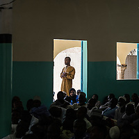 """Imam Aboubacar Mala Adji is a 35-year-old preacher in the Izala Islamic movement. In his mosque in Diffa, he preaches three times a week against the violence and against the temptation to join the rebels. He says that around 1,400 men, women and children come to his mosque to learn about the Koran and religious practice: """"I hope that rebels hear my sermons and pass on the message of peace. I know that I've persuaded some of them."""" He was one of 11 imams who took a stand against the violence in Maiduguri, Nigeria, where he lived. Seven of the 11 have been killed. """"A little more than five years ago, I had to flee to Niger,"""" he says. Over the past two years he has been helping the ICRC communicate with other religious leaders and spread awareness of universal humanitarian principles and human rights."""