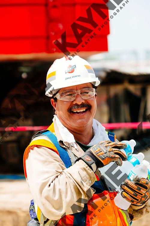 Construction progress at ExxonMobil Baytown Olefins Plant at 3525 Decker Drive, Baytown, Texas, Friday, April 28, 2017.