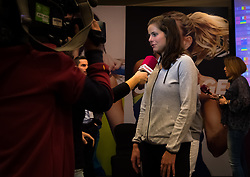 February 9, 2019 - Doha, QATAR - Julia Goerges of Germany talks to the media during the draw ceremony of the 2019 Qatar Total Open WTA Premier tennis tournament (Credit Image: © AFP7 via ZUMA Wire)