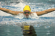Oakwood freshman Natasha Wahl competes in the 100 yard butterfly during the Girls Division II District Swimming Tournament at the Corwin Nixon Natatorium at Miami University, Saturday, February 16, 2008.
