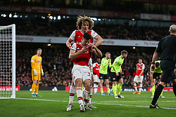 Gabriel Martinelli of Arsenal is helped up by David Luiz - Mandatory by-line: Arron Gent/JMP - 18/01/2020 - FOOTBALL - Emirates Stadium - London, England - Arsenal v Sheffield United - Premier League