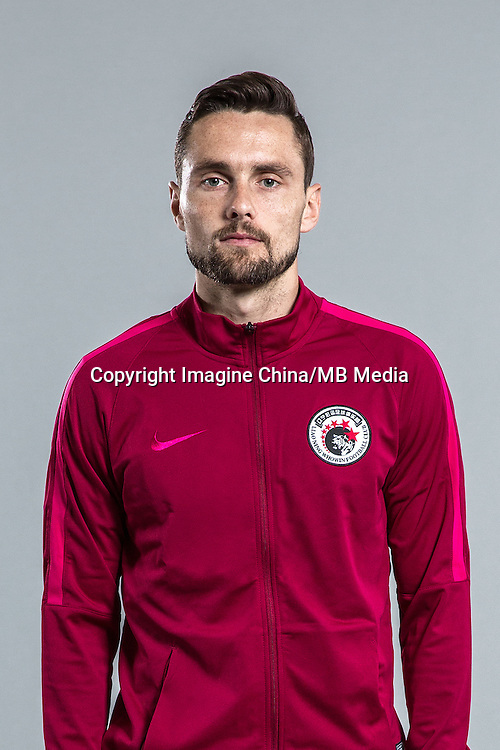Portrait of Australian soccer player James Holland of Liaoning Whowin F.C. for the 2017 Chinese Football Association Super League, in Foshan city, south China's Guangdong province, 24 January 2017.