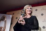 Renée Martel a reçu le Félix hommage au Gala de l'ADISQ 2012. Photo-documentaire pour Francophonie Express. à  Théâtre St-Denis / Montreal / Canada / 2012-10-28, Photo © Marc Gibert / adecom.ca