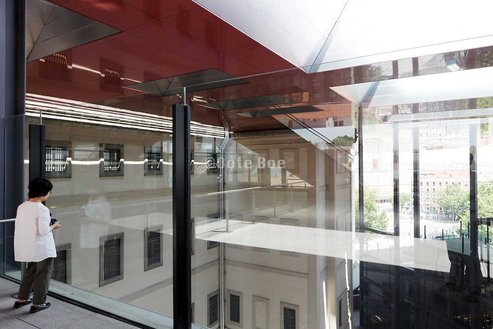 top floor of the new section at Museo centro de arte Reina Sofia