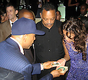 Russell Simmons, Rev. Jesse Jackson & Tracy Edmonds.Black Enterprise Magazine Party.Beverly Whilshire Hotel.Beverly Hills, California, USA.Wednesday, February 21, 2007.Photo By Celebrityvibe; .To license this image please call (212) 410 5354 ; or.Email: celebrityvibe@gmail.com ;
