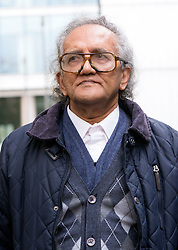 © Licensed to London News Pictures. 12/11/2015. London, UK. Aravindan Balakrishnan outside Southwark Crown Court at lunchtime. Balakrishnan, known as cult leader, Comrade Bala stands accused of raping two of his followers and keeping his daughter prisoner for 30 years. Photo credit : Vickie Flores/LNP