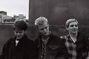 Teenagers standing outside, London, UK, 1983