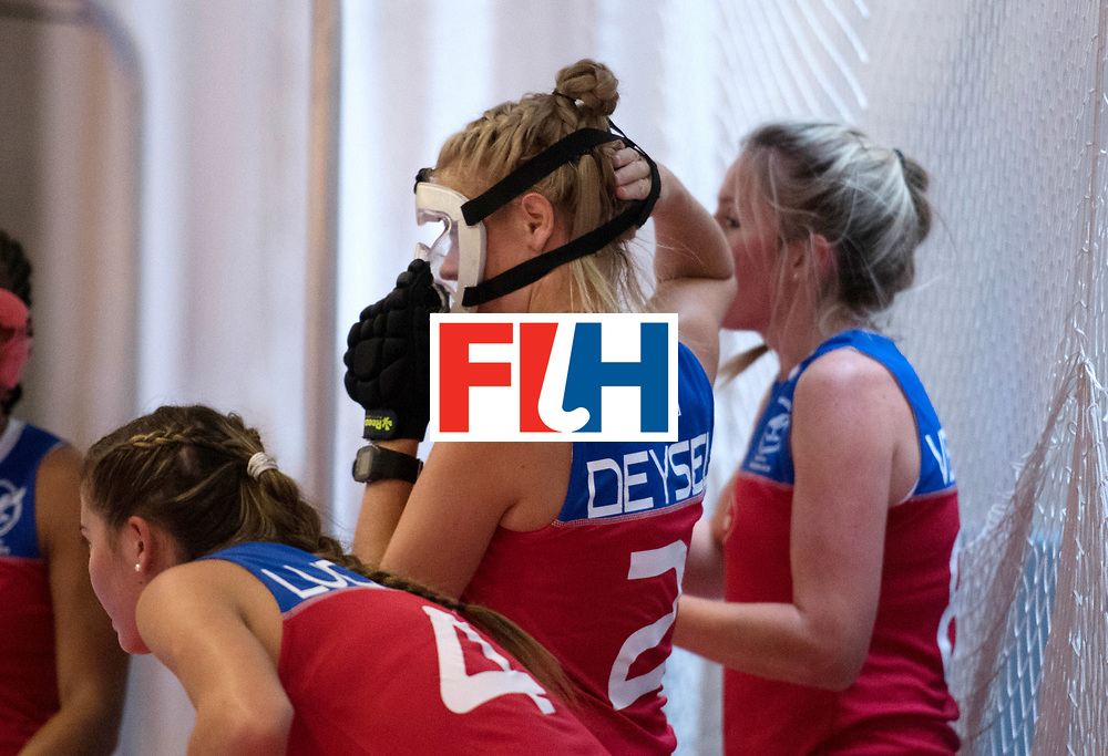 BERLIN - Indoor Hockey World Cup<br /> Czech Republic - Namibia<br /> foto: Face Mask<br /> WORLDSPORTPICS COPYRIGHT FRANK UIJLENBROEK