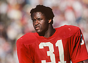 PALO ALTO, CA -  SEPTEMBER 19:  Darrin Nelson #31 of the Stanford Cardinal leaves the field following an NCAA football game against the San Jose State Spartans played on September 19, 1981at Stanford Stadium in Palo Alto, California. (Photo by David Madison/Getty Images) *** Local Caption *** Darrin Nelson