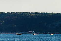 Pomorska policija Slovenije lovi pijanega voznika gliserja on August 19, 2019 in Piran, Slovenia. Photo by Matic Klansek Velej / Sportida
