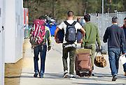 Nederland, Nijmegen, 14-4-2016 Kamp Heumensoord. De noodopvang loopt langzaam leeg en moet op 1 juni door het coa overgedragen zijn aan de gemeente. De vluchtelingen vertrekken vanaf begin maart naar andere opvanglocaties. Zowel per bus als met zelf geregeld vervoer kan men naar het volgende AZC. Hiermee komt een eind aan de grootschalige opvang die in deze vorm niet snel zal terugkeren. Nijmegen, The netherlands,Temporary camp for refugees in Nijmegen is closing down after 8 months . On the 1st of june the site must be handed over to the local aurhorities .FOTO: FLIP FRANSSEN