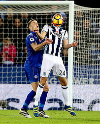 Darren Fletcher of West Bromwich Albion and Andy King of Leicester City battle for the ball - Mandatory by-line: Robbie Stephenson/JMP - 06/11/2016 - FOOTBALL - King Power Stadium - Leicester, England - Leicester City v West Bromwich Albion - Premier League