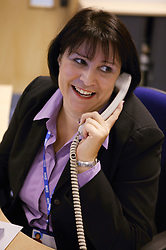 Woman working in the NHS offices,