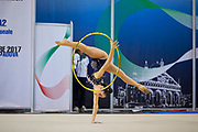 Maria Vilucchi from Petrarca team during the Italian Rhythmic Gymnastics Championship in Padova, 25 November 2017.