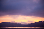 National Geographic Sea Lion's Columbia River Expedition in the Pacific Northwest, Oregon. Sunrise in Astoria, Oregon.