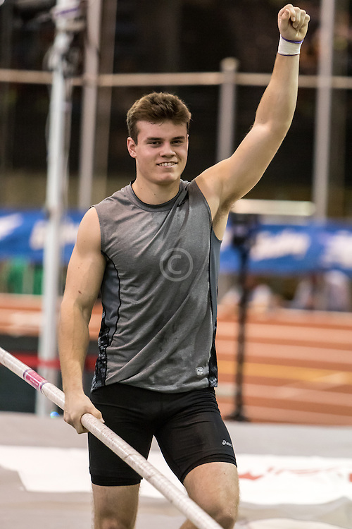 New Balance High School Indoor National Championships, boys pole vault, Deakin Volz wins, national record