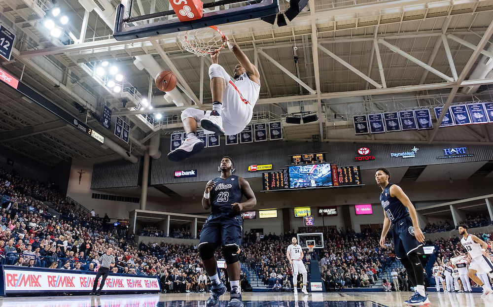 Gonzaga beat the Akron Zips 61-43 on Dec. 10 in the McCarthey Athletic Center to improve to 10-0 for the first time since 1958. (Photo by Edward Bell)