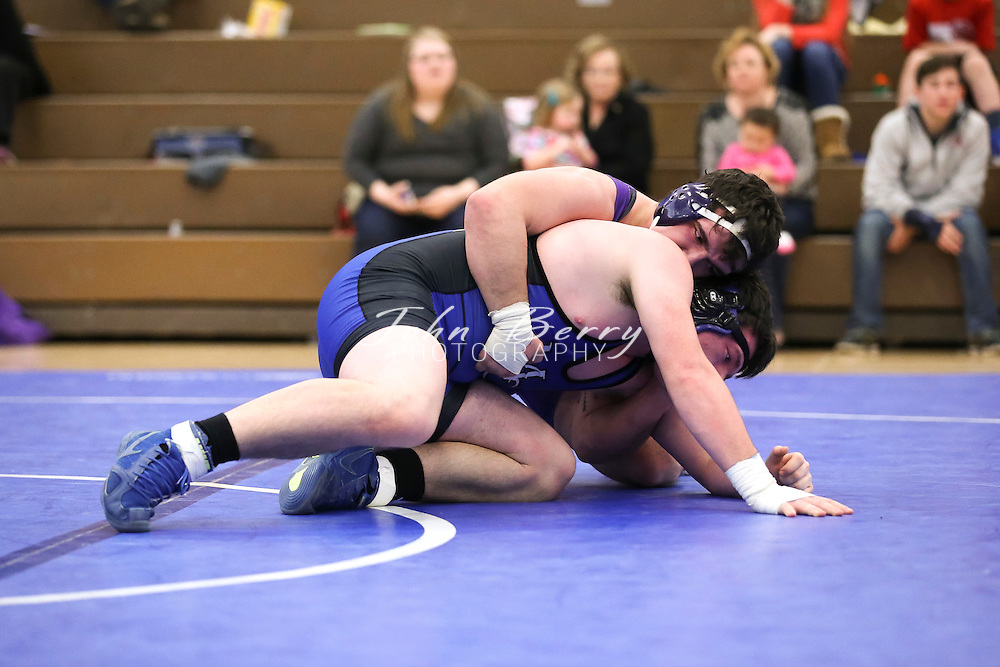 February 06, 2016.  <br /> MCHS Wrestling vs Strasburg.  Conference 35 Tournament.