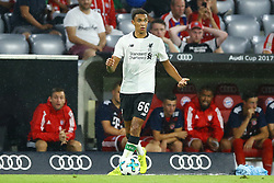 August 1, 2017 - Munich, Germany - Trent Alexander-Arnold of Liverpool during the second Audi Cup football match between FC Bayern Munich and FC Liverpool in the stadium in Munich, southern Germany, on August 1, 2017. (Credit Image: © Matteo Ciambelli/NurPhoto via ZUMA Press)
