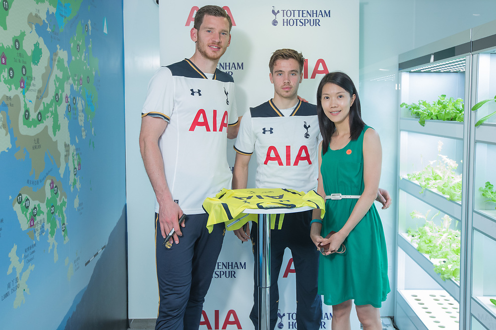 Tottenham Hotspur F.C visits AIA Tower, Quarry Bay on 25 May 2017 at AIA office, Quarry Bay, HONG KONG.<br /> Photo by MozImages.
