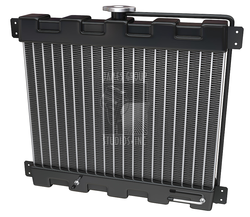 Car Radiator on a white background with clipping path