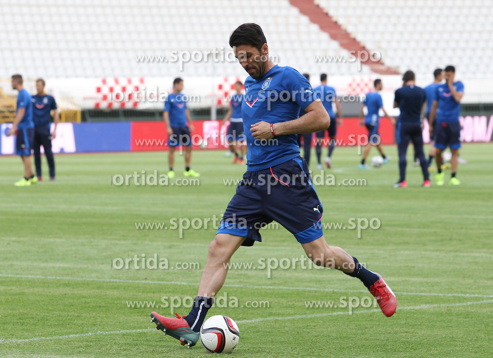 11.06.2015, Stadion Poljud, Split, CRO, UEFA Euro 2016 Qualifikation, Kroatien vs Italien, Gruppe H, Training Italien, im Bild Gianluigi Buffon // during training of Team Italy prior to the UEFA EURO 2016 qualifier group H match between Croatia and and Italy at the Stadion Poljud in Split, Croatia on 2015/06/11. EXPA Pictures &copy; 2015, PhotoCredit: EXPA/ Pixsell/ Ivo Cagalj<br /> <br /> *****ATTENTION - for AUT, SLO, SUI, SWE, ITA, FRA only*****