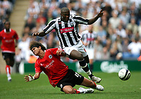 Photo: Rich Eaton.<br /> <br /> West Bromwich Albion v Barnsley. Coca Cola Championship. 01/09/2007. Barnsley's Dennis Souza (l) challenges Ishmael Miller (r) of West Brom.