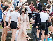 "Henley on Thames. United Kingdom.  Final of the Ladies"" Challenge Plate. Bucks Station. A.S.R. Nereus and Berks Station, Leander Club    2016 Henley Royal Regatta,   Sunday,  03/07/2016,   [Mandatory Credit Peter Spurrier/Intersport Images]"