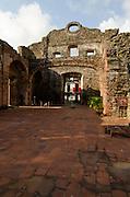 Ruins of Santo Domingo church at Old Quarters. San Felipe, Panama City, Panama, Central America.