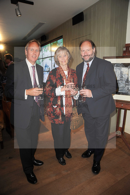 Left to right, CHARLIE MAYHEW, VIRGINIA McKENNA and NIGEL WINSER at a party to celebrate the publication of Born Wild by Tony Fitzjohn at The Arts Club, Dover Street, London on 16th September 2010.
