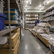 BOWIE, MD- MAY3: The large artifacts vault at the U.S. Holocaust Memorial Museum's David and Fela Shapell Family Collections, Conservation and Research Center in Bowie, MD, May 3, 2017. The 80,000-square-foot Shapell Center is a state-of-the-art facility that will house the collection of record of the Holocaust, including historical artifacts, documents, photographs, film and other objects related to the Holocaust. (Photo by Evelyn Hockstein/For The Washington Post)
