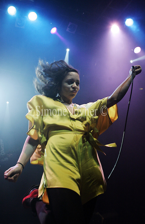 LONDON - JUNE 6: Singer Tahita Bulmer of the New Young Pony Club performs live on stage at Koko on June 6, 2007 in London, England. (Photo by Simone Joyner/Getty Images)..  *** Local Caption *** Tahita Bulmer