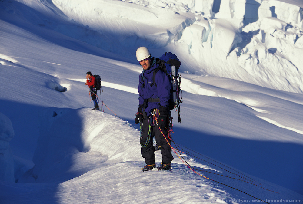 Climbing Mt. Baker, Washington.
