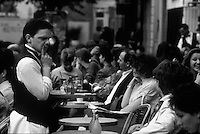 at a Paris Cafe - Photograph by Owen Franken