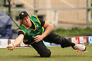 Brendon Diamanti of the Central Stags makes a diving catch during the Central Stags training session held at St Georges Park in Port Elizabeth on the 20 September 2010..Photo by: Shaun Roy/SPORTZPICS/CLT20