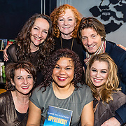 NLD/Amsterdamt/20170111 - Nieuwjaarsborrel Opvliegers 2, Anne-Mieke Ruyten, Anousha Nzume, Hymke de Vries en Antje Monteiro en Rick Engelkes