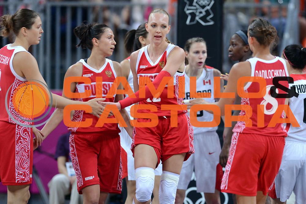 DESCRIZIONE : London Londra Olympic Games Olimpiadi 2012 Women Preliminary Round Canada Russia<br /> GIOCATORE : Irina Osipova<br /> CATEGORIA : Esultanza<br /> SQUADRA : Russia<br /> EVENTO : Olympic Games Olimpiadi 2012<br /> GARA : Canada Russia<br /> DATA : 28/07/2012 <br /> SPORT : Pallacanestro <br /> AUTORE : Agenzia Ciamillo-Castoria/GiulioCiamillo<br /> Galleria : London Londra Olympic Games Olimpiadi 2012 <br /> Fotonotizia : London Londra Olympic Games Olimpiadi 2012 Women Preliminary Round Canada Russia<br /> Predefinita :