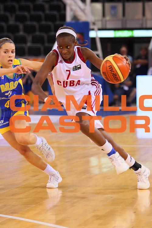 DESCRIZIONE : Madrid 2008 Fiba Olympic Qualifying Tournament For Women Final Cuba Brazil <br /> GIOCATORE : Oyanaisy Gelis <br /> SQUADRA : Cuba <br /> EVENTO : 2008 Fiba Olympic Qualifying Tournament For Women <br /> GARA : Cuba Brazil Cuba Brasile <br /> DATA : 15/06/2008 <br /> CATEGORIA : Penetrazione <br /> SPORT : Pallacanestro <br /> AUTORE : Agenzia Ciamillo-Castoria/S.Silvestri <br /> Galleria : 2008 Fiba Olympic Qualifying Tournament For Women<br /> Fotonotizia : Madrid 2008 Fiba Olympic Qualifying Tournament For Women Final Cuba Brazil <br /> Predefinita :