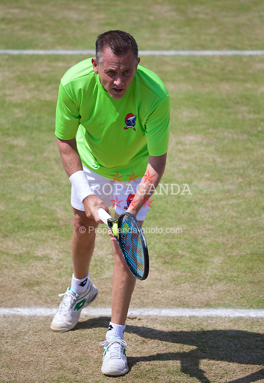 LIVERPOOL, ENGLAND - Sunday, June 22, 2014: Michael Pernfors (SWE) during Day Four of the Liverpool Hope University International Tennis Tournament at Liverpool Cricket Club. (Pic by David Rawcliffe/Propaganda)