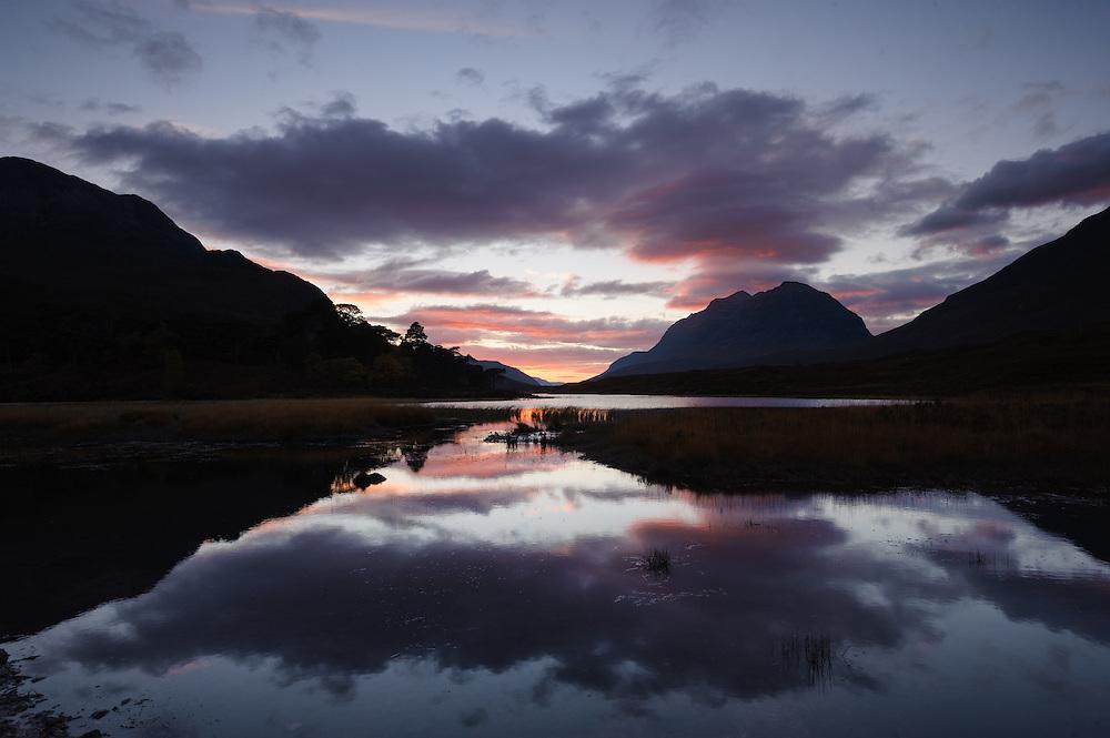 Loch Clair at dusk, Torridon, Scotland