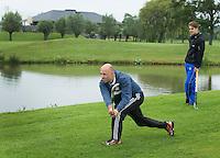 DEN HAAD - Site Event World Cup Hockey . Ex international Rogier van 't Hek.  tijdens NK Hockeygolf op de Rijswijkse Golfclub  FOTO KOEN SUYK
