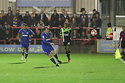 AFC Wimbledon midfielder Dannie Bulman (4) during the The Emirates FA Cup 1st Round Replay match between AFC Wimbledon and Bury at the Cherry Red Records Stadium, Kingston, England on 15 November 2016. Photo by Stuart Butcher.