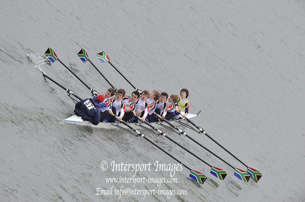 Chiswick. Great Britain, 2010 Schools Head of the River Race. Chiswick to Putney on the Championship Course, River Thames, London,  Thursday   11/03/2010 [Mandatory Credit. Peter Spurrier/Intersport Images]