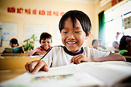 Young vietnamese kids in a classroom, Cam Ranh, Vietnam, Southeast Asia