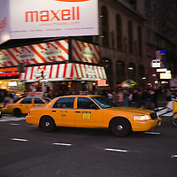 Yellow taxi cab, New York City, NY, USA