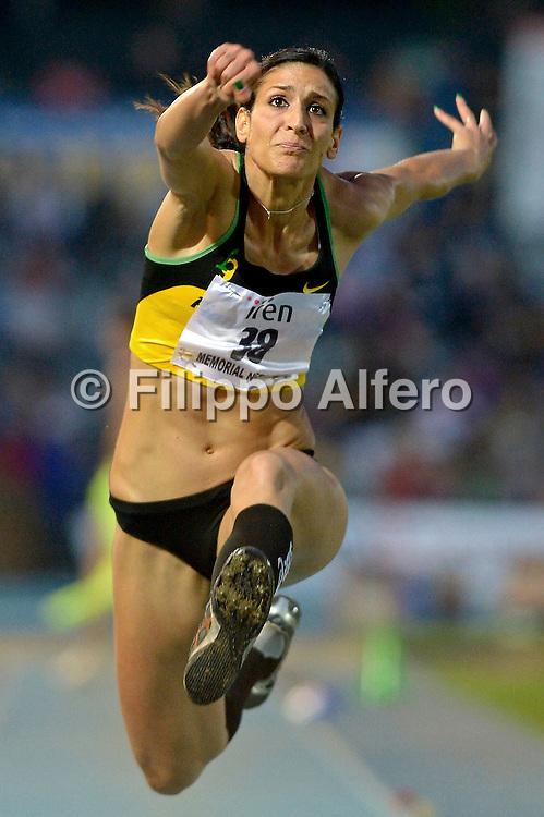 &copy; Filippo Alfero<br /> XIII Meeting Internazionale di Atletica Leggera Primo Nebiolo<br /> Torino, 08/06/2012<br /> sport atletica<br /> Nella foto: Simona La Mantia - ITA, vincitrice salto triplo donne